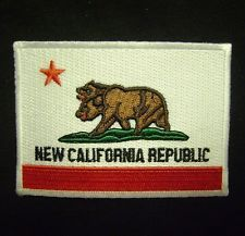 NEW CALIFORNIA REPUBLIC FLAG FALLOUT UNIFORM COSPLAY VELCRO PATCH MADE IN USA