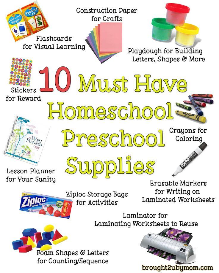 10 Must Have Homeschool Preschool Supplies