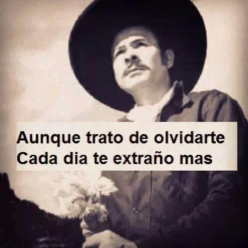 Aunque trato de olvidarte cada día te extraño más. Antonio Aguilar