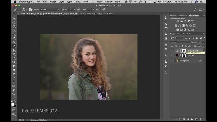 Photoshop Layer Masks, Sun Flare and Background Color Change
