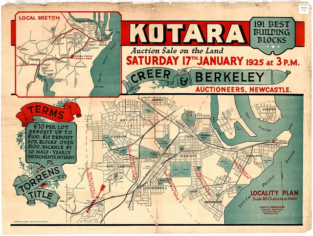 M60 - Kotara Subdivision Plan, Saturday 17th January, 1925. by Cultural Collections, University of Newcastle, via Flickr