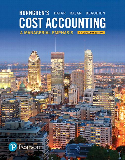 Solution Manual For Horngrens Cost Accounting A Managerial