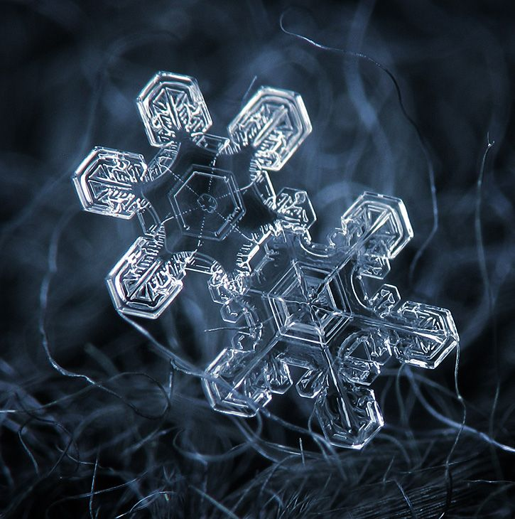 how to take close up photos of snowflakes