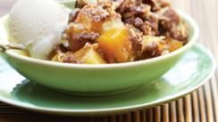 Mango and Pineapple Crumble