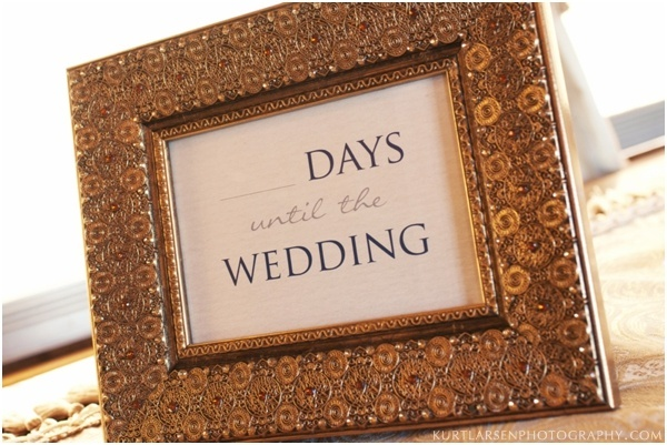 1 Year Countdown Wedding Gift : ... wedding countdown frame makes a memorable bridal shower gift or