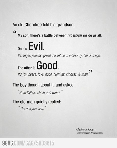 Good vs Evil - I know I've probably pinned this before, but I really love it.