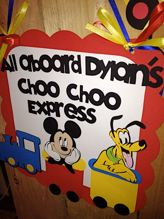 MIckey+Mouse+Clubhouse+Birthday+Banner++by+PurpleZebraPaperCo,+$33.00