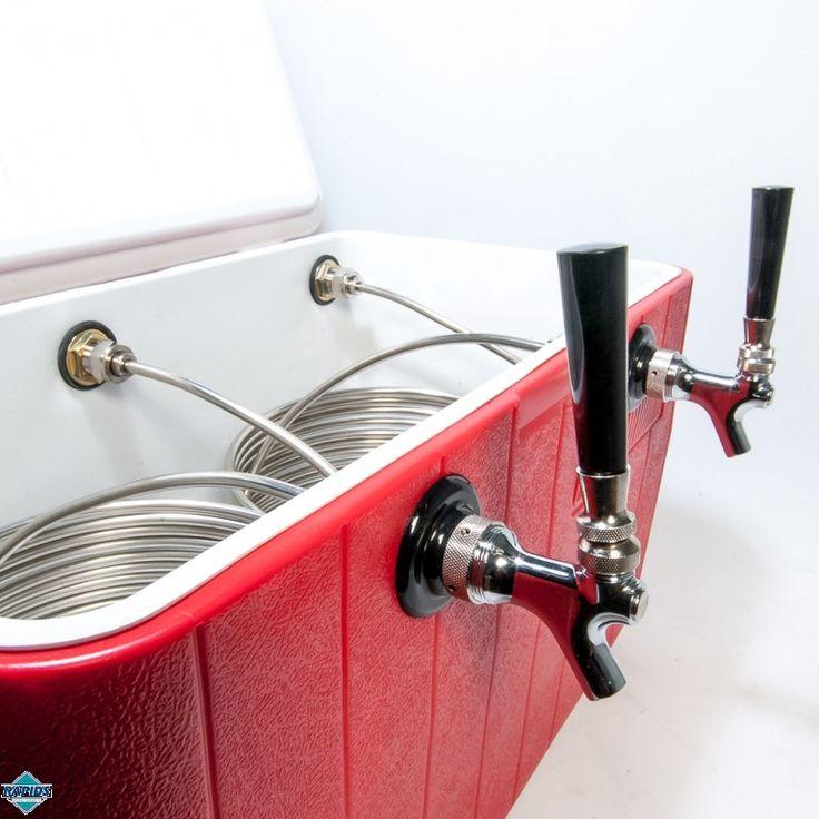 Kegerator Beer Jockey Box keg single Faucet Draw 50 Coil Cooler Full Kit