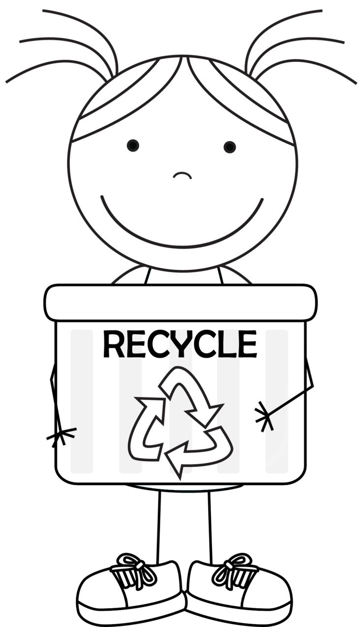 Recycling pages to color - Kid Color Pages Earth Day For Girls