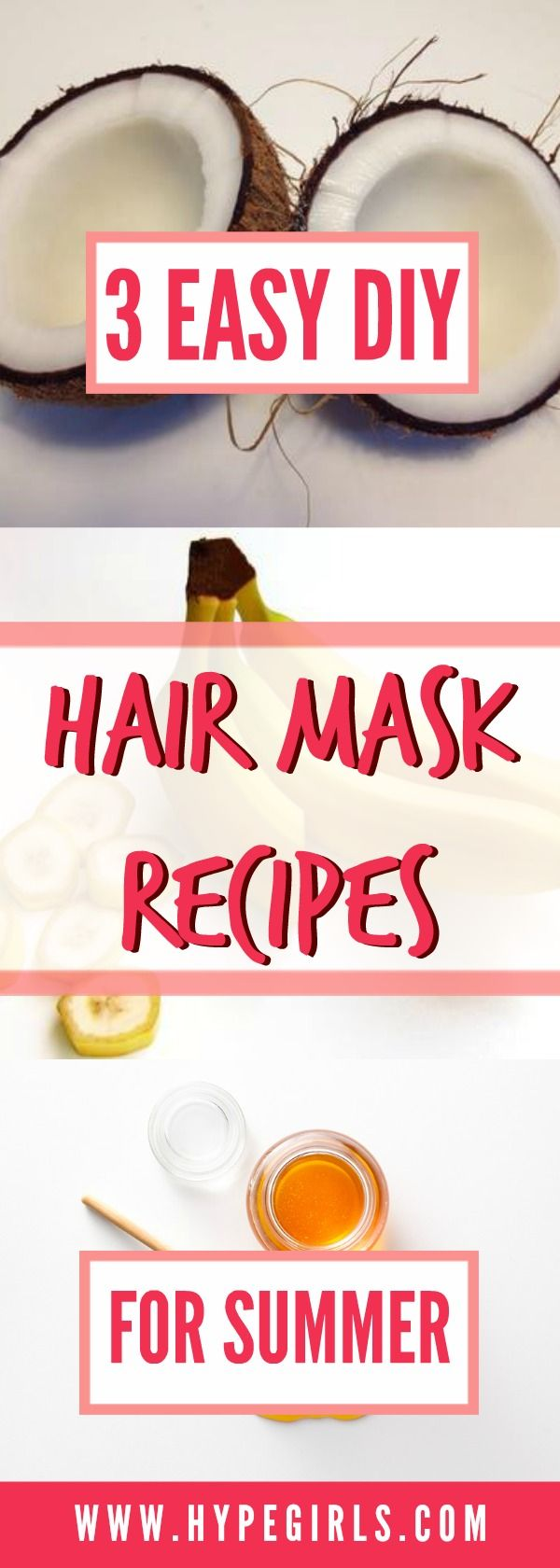 Try these amazing DIY hair masks this summer! DIY | Hair Mask | Haircare | Beauty | Organic | Natural | Homemade | Crunchy Mama | Summer | Recipes | HSI Professional | Hair Damage | Sun Damage | Dry Hair | Frizzy Hair | Softer Hair | Shop| HypeGirls |