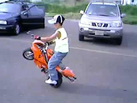 Bike Videos For Kids Kid Shows Off Pocket Bike