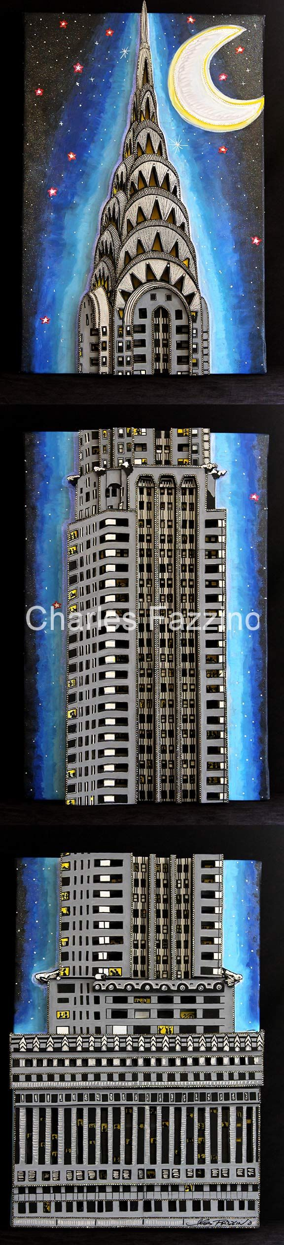 best ideas about new york city pop art chrysler building in three parts three panels each mixed media pop art by