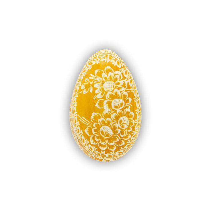 Velikonoční kraslice vyškrabovaná husí jednobarevná vzor hj-0130 – Borkovanské kraslice