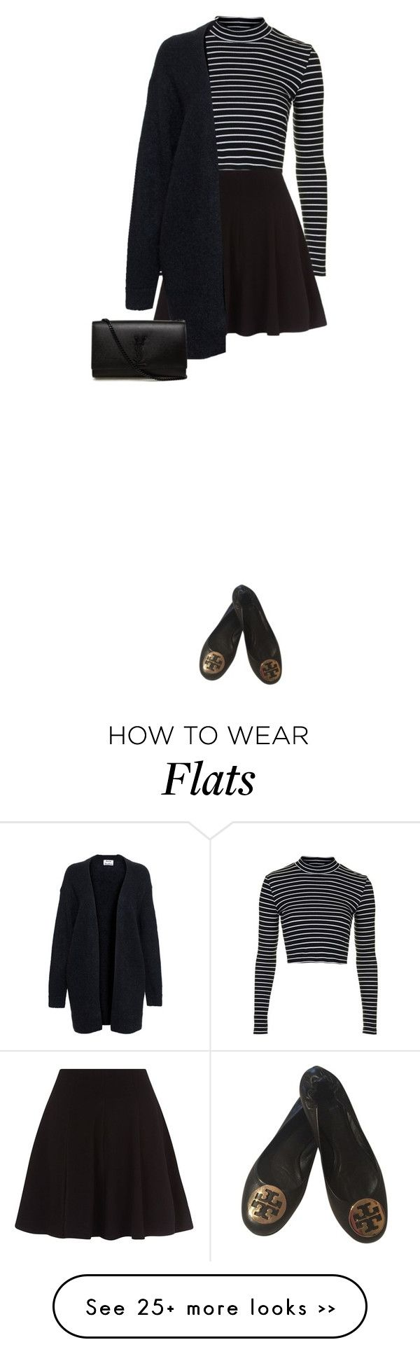 """""""OOTD No.68"""" by katrina-yeow on Polyvore featuring Topshop, Acne Studios, Tory Burch and Yves Saint Laurent"""