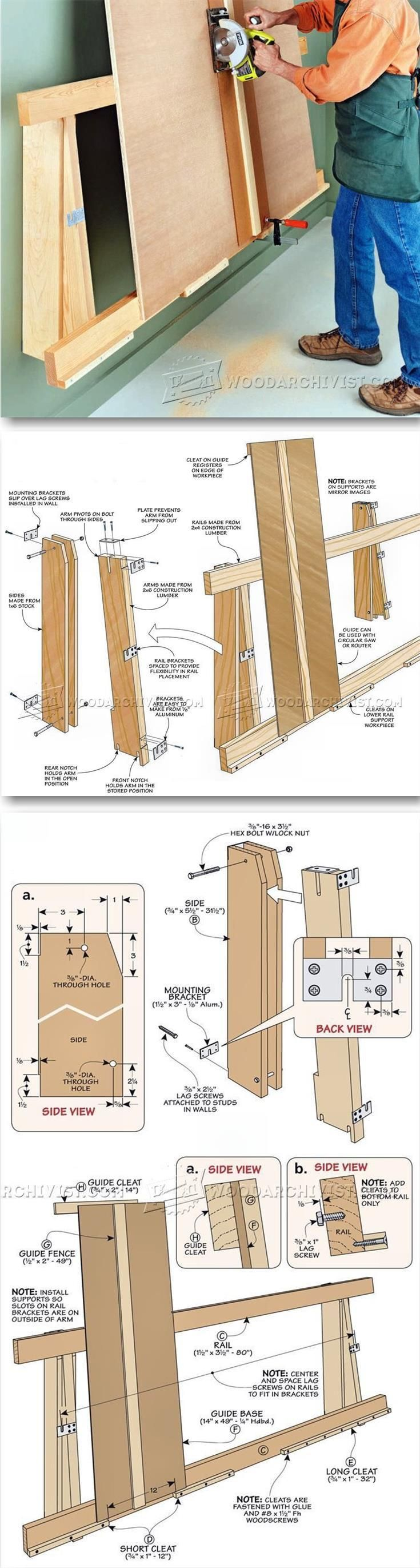 Plywood Cutting Rack - Circular Saw Tips, Jigs and Fixtures | WoodArchivist.com