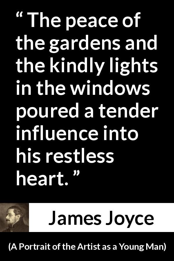 James Joyce Quote About Peace From A Portrait Of The Artist As A