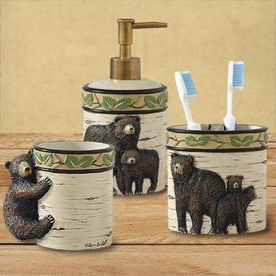 17 best images about bathroom decor on pinterest for Rustic bear home decor