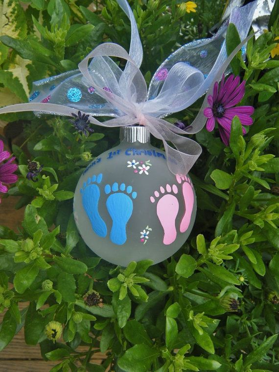 84 best babys first christmas ornaments images on pinterest twins first christmas ornament baby feet by brushstrokeornaments 2175 negle Image collections