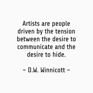 Being an introvert AND an artist = doubly hard not to hide? ☺