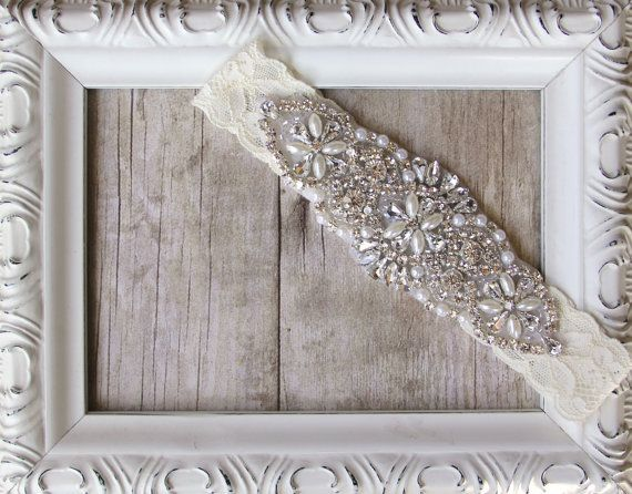 Garter Customizable Vintage Wedding Garter Pearl by TheLoveStory