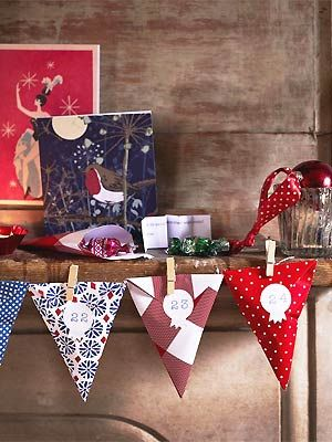 CL make advent bunting - Christmas craft ideas - Craft - allaboutyou.com