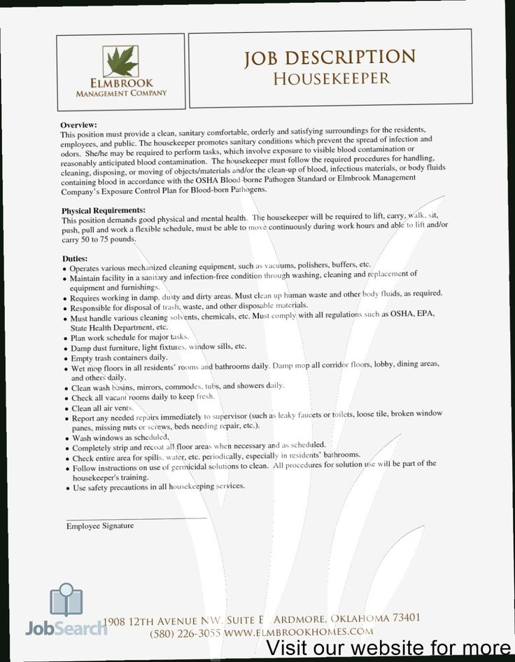 house keeping resume template 2020, housekeeping job professional cv format in ms word modern free for internship pdf
