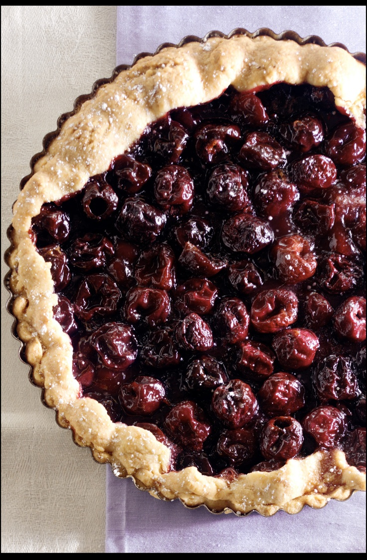 Fresh Cherry Tart 1/2 cup cold butter, cut into small pieces 2 teaspoons grated orange rind Cherry Filling: 4 cups pitted cherries (about 1 1/3 pounds) 2/3 cup sugar 1 1/2 tablespoons cornstarch 1 teaspoon confectioners' sugar