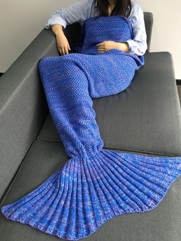 Comfortable Sleeping Bags Yarn Knitted Mermaid Tail Blanket