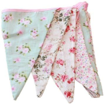 English Vintage Floral Design Party Bunting (3 meters)