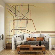 Fototapet - Underground System Map