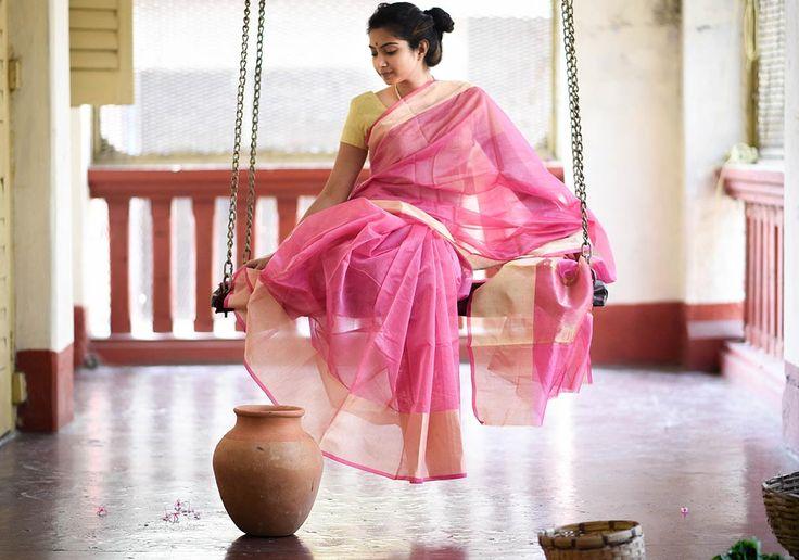 Daily wear plain cotton saree