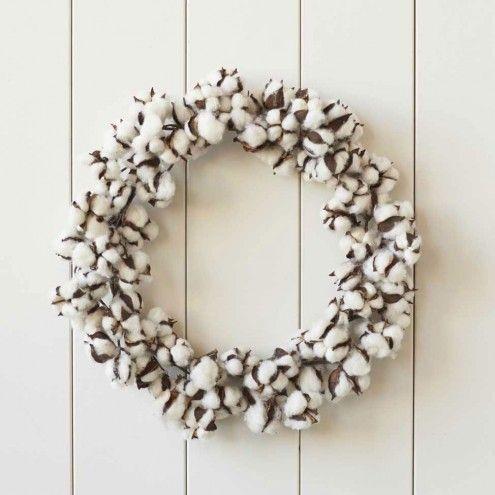 Organic Cotton Pod Wreath   VivaTerra