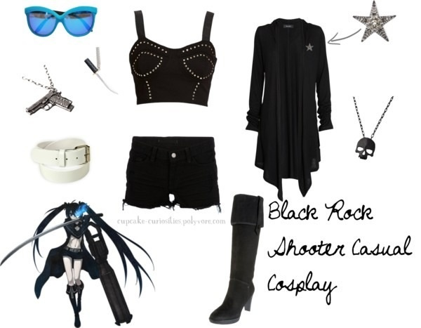 black rock shooter casual cosplay