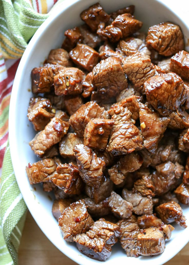 Asian Steak Bites - recipe by Barefeet In The Kitchen