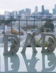 Grave Ornaments - Dad Cherub Alphabet Letters