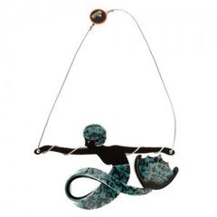 Marina the Medieval - resin Erstwilder mermaid necklace