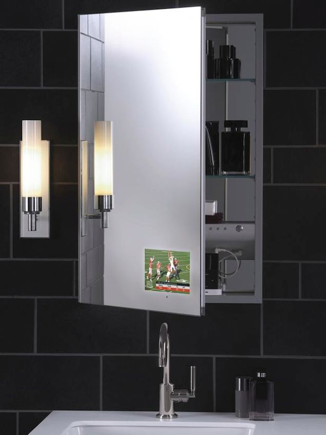 how hitech could your bathroom be m series with tvid medicine cabinet