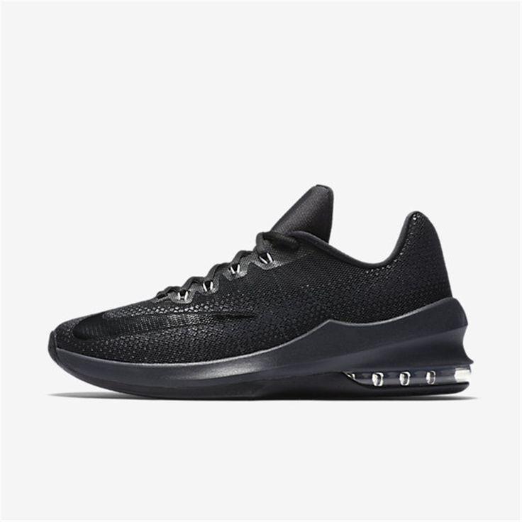 Mens Basketballschuh Air Max Infuriate 2 Basketball Shoes, Black/Metallic Gold Nike