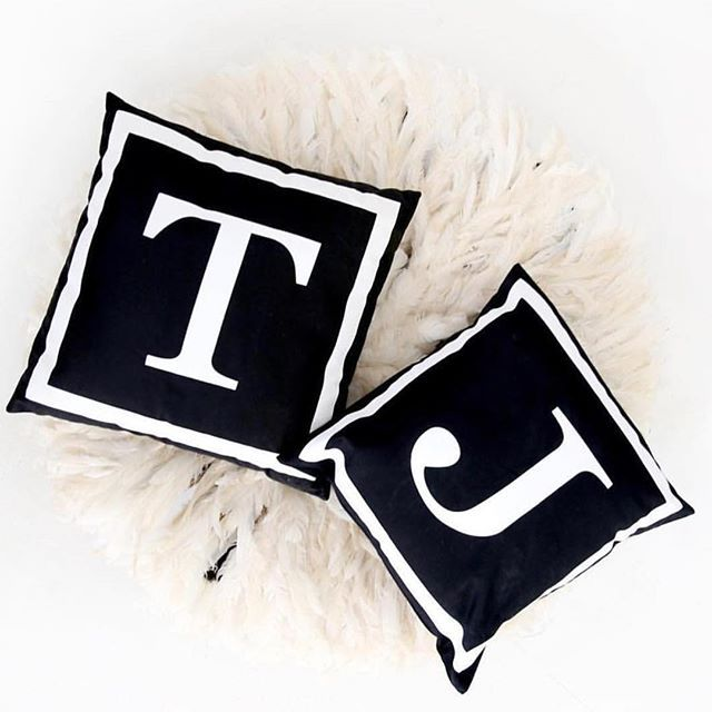 Our monogram cushions are now on SALE!!! Reduced from $55 to only $40 for a limited time.. Hustle✌️monogram #neueblvd #monogramcushions #cushions #homestyling #homewares #furniture #furniture #cushions #blackandwhite #cushion #decor #homedecor #sale