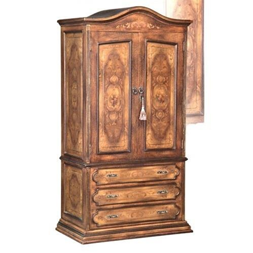 H1Brilliant Brown Armoire With Hand Painted Scroll Designs_h1This  Resplendent Armoire Has A Fresco Brown Finish, With Hand Painted Scroll  Designs On The ...