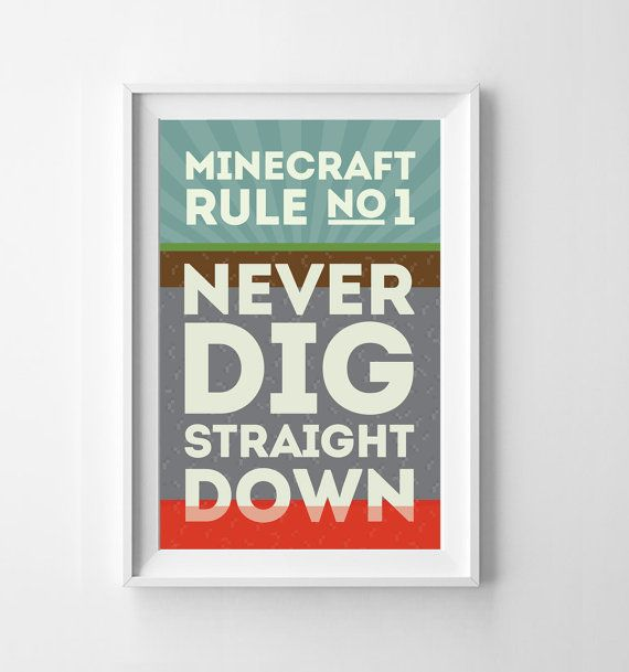 MineCraft Rules Poster Set Buy Three and by itsDesignsByChelsea