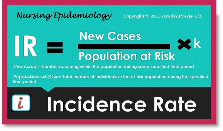 Incidence rate equation