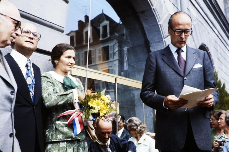 La ministre de la Santé avec Valéry Giscard d'Estaing, en 1978.