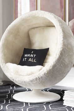 I would like the chair in my bedroom. I would like this chair in my bedroom for relaxing for example when I want to read or write.