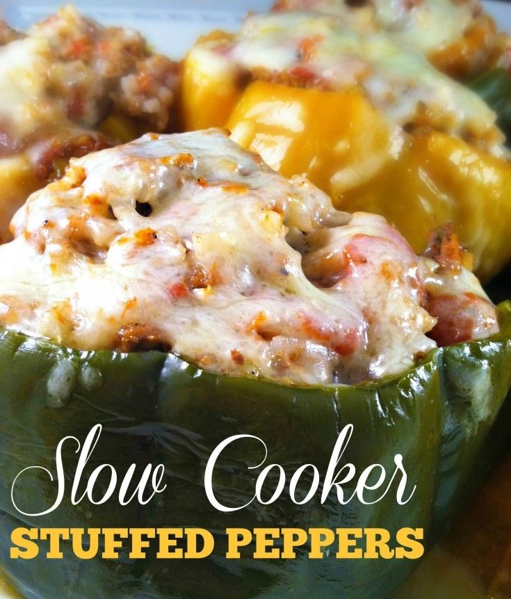Crock Pot Stuffed Peppers | Sincerely, Mondy | I absolutely adore Stuffed Peppers and these look and sound AMAZING!!  Love the idea of making them in a slow cooker.