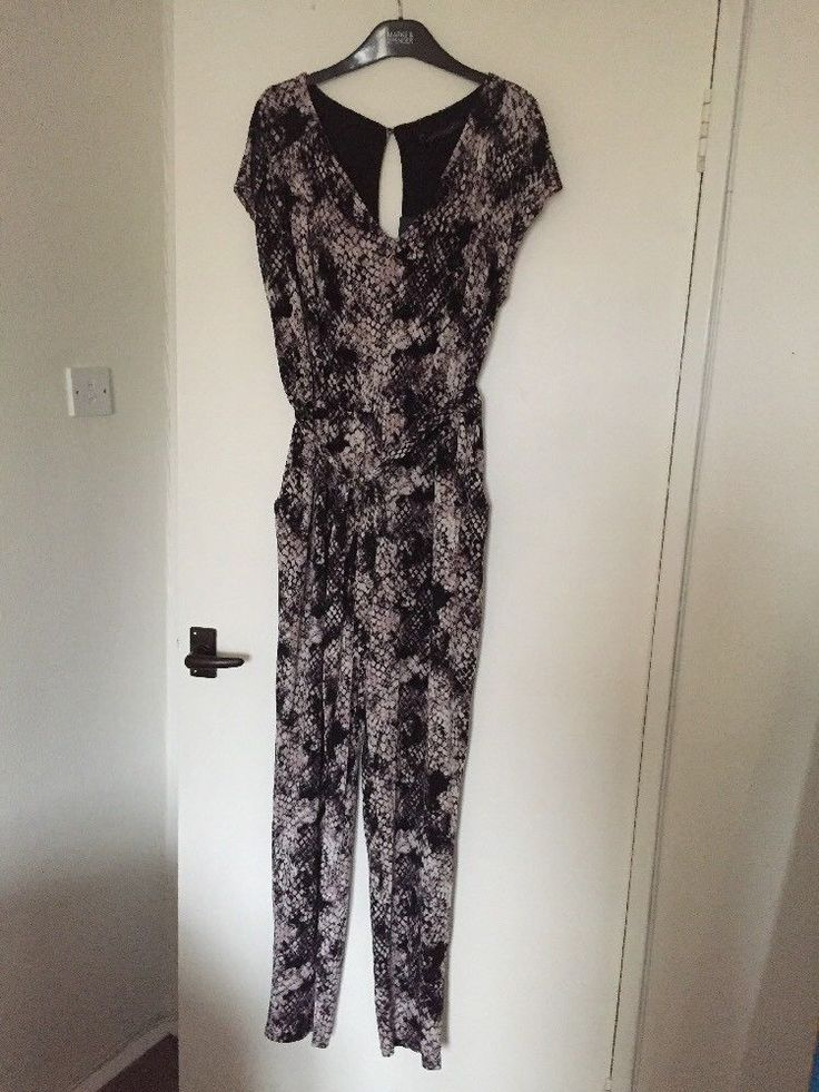 M&S Collection Ladies Jumpsuit with Belt UK14 Regular BNWT RRP£45 Animal Print
