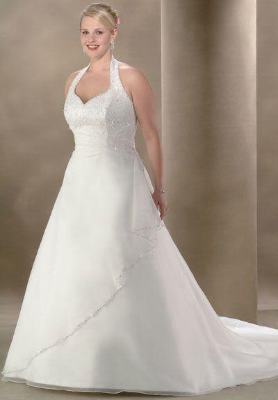 Hair Halter Wedding Gownsplus Size
