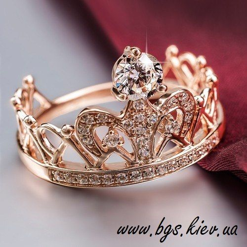 Кольцо Корона. Золотое кольцо Королевы www.bgs.kiev.ua