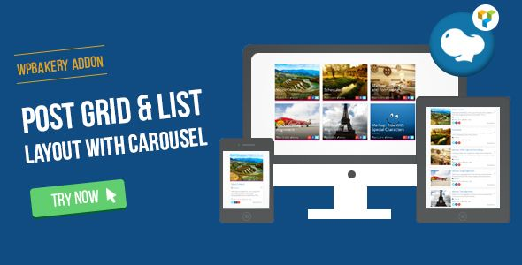 WPBakery Page Builder - Post Grid/List Layout With Carousel