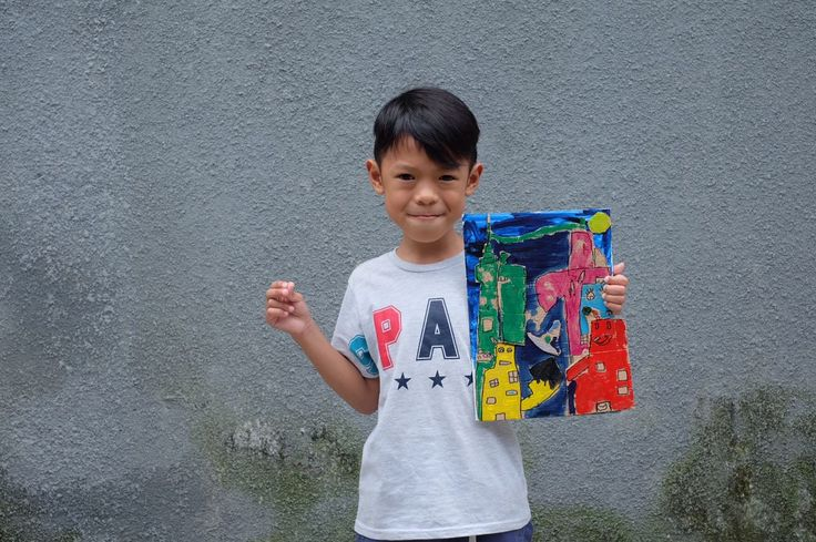 Kids painting. Inspired by James Rizzy